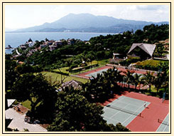 Tennis courts open to La Punta owners and vacationers.